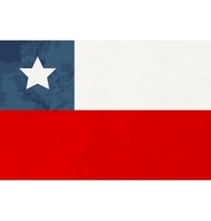 True proportions Chile flag with texture vector image