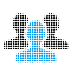 users halftone icon vector image