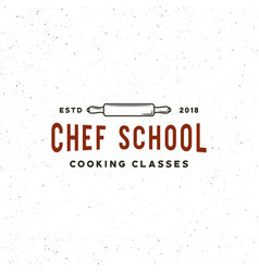 Vintage cooking classes logo retro styled vector