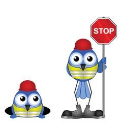 Workers stop sign vector