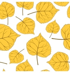 yellow autumn leaves vector image