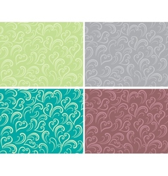Curly seamless background vector image