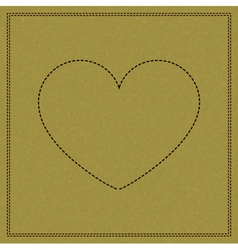 Heart on weave vector image vector image