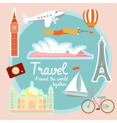 Travel and tourism around the world vector