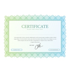 currency or diploma template vector image