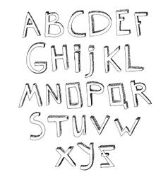 Hand Drawn Alphabet 03 A vector image vector image