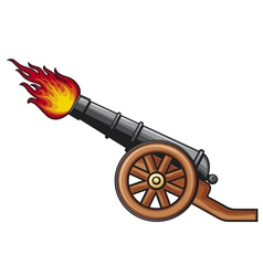 old artillery cannon vector image vector image