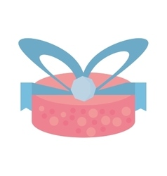 colored gift box wrapped paper bow dotted vector image vector image
