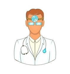 Doctor with stethoscope icon cartoon style vector image vector image