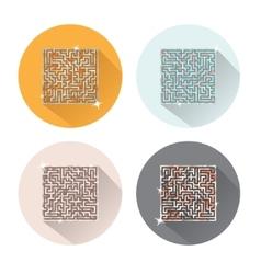 Maze Icons vector image