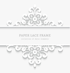 Paper lace divider frame vector image vector image