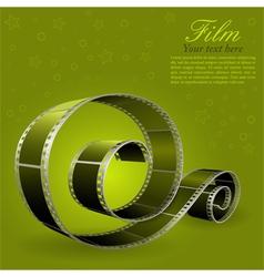 photographic film element vector image