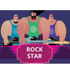 Rock band vector image