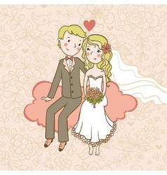 Vintage wedding background vector image vector image