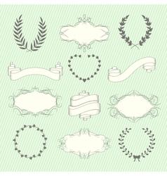 Wedding elements set vector image