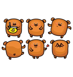 brown bear set vector image vector image