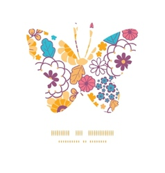 Colorful oriental flowers butterfly vector