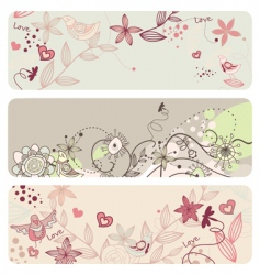 cute floral banners vector image vector image