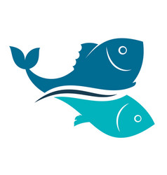 fish design abstract vector image
