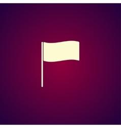 Flag icon Location marker symbol Flat design vector image