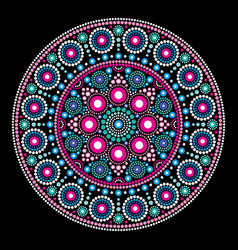 mandala dot painting style aboriginal folk vector image vector image