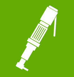 pneumatic screwdriver icon green vector image