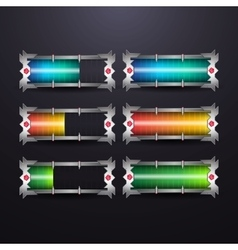 progress or loading bars vector image