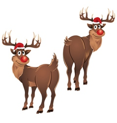 Rudolph The Reindeer Standing vector image vector image