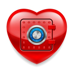Shiny red heart as a safe vector image