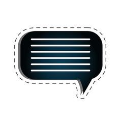 Speech bubble texting icon vector