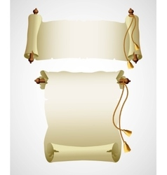 Vertical old scroll paper vector image vector image