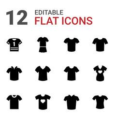 12 tshirt icons vector image