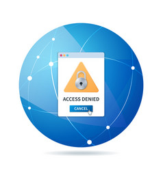 Access denied sign in 3d style vector