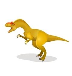 Allosaurus differen lizard isolated on white vector