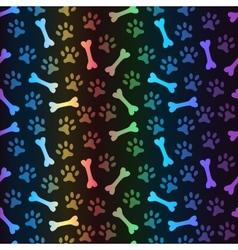 Animal spectrum seamless pattern of paw vector