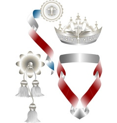 Attributes for royal heraldry vector image