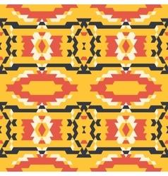 Aztec tribal seamless black yelloe red pattern vector image