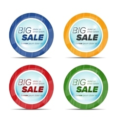 Big sale circle stickers in a bubble vector