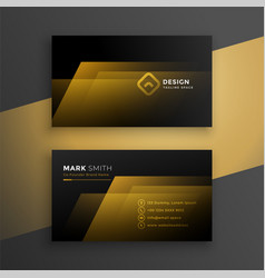 Black and golden business card template design vector