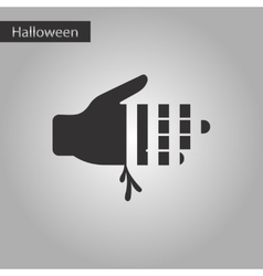 Black and white style icon bloody hand vector