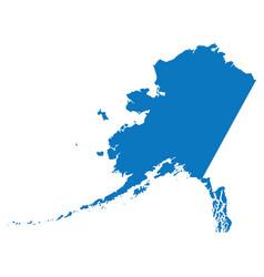 blank blue similar alaska map isolated on white ba vector image