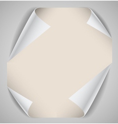 Blank paper sheet with bending corners vector image