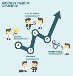 Business startup Infographic elements flat design vector