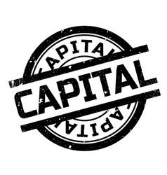 Capital rubber stamp vector