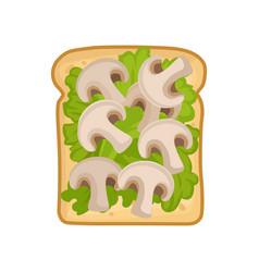 Cartoon icon of delicious and healthy sandwich vector