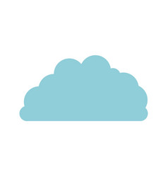 cloud fluffy in light blue and white background vector image