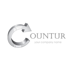 Company logotype isolated on white vector image