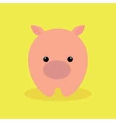 Cute Cartoon pig vector image