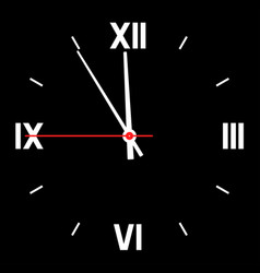 dial of hours vector image