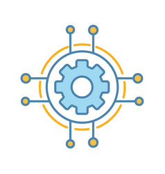 Digital settings color icon vector